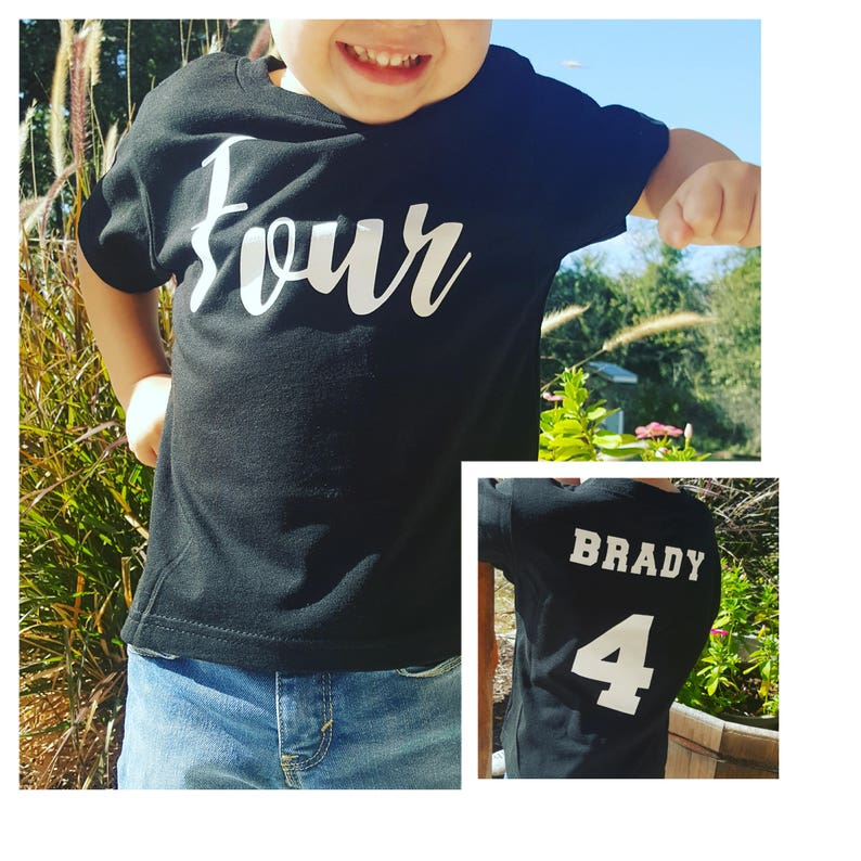 Boys 4th Birthday Shirt Four 4 Year Old