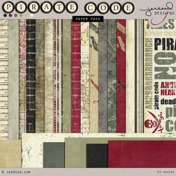 Pirate Digital Paper Pirates Theme Paper Pirate Scrapbook Etsy