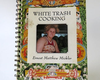 Vintage Cook Book, 1980's Spiral Cookbook, White Trash Cooking by Earnest Matthew Mickler, Regional Cookbook Southern Cooking Recipes,