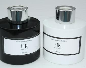 HK (Helen Kuhne) White Jasmine & Mint Black/White 100 ml Diffuser