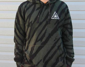 Mini Logo Stripes Tie Dye Hoodie Sweatshirt Pullover