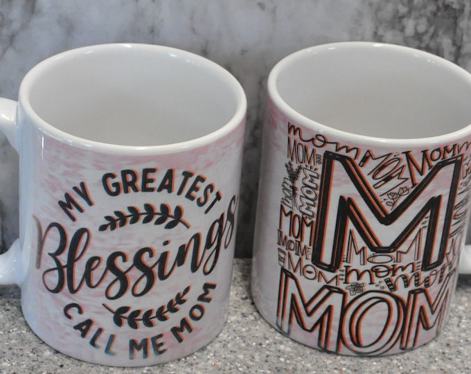 Sublimated Light Pink Mother's Day Mug