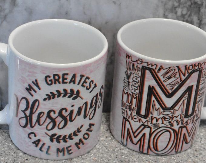Sublimated Light Pink Mother's Day Mug