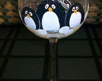 Single, Penguin Trio wine glass