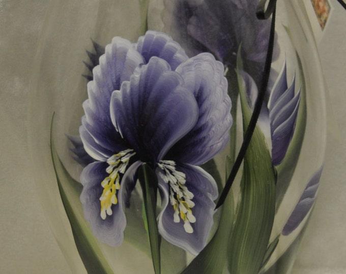 """11.5"""" Purple Iris Hurricane shade"""