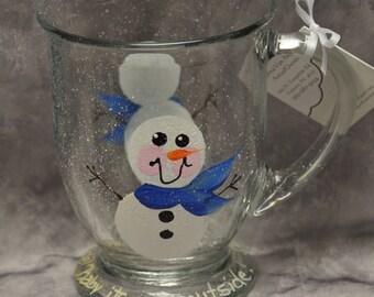 Hand painted Snowman Mug