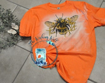 Bleached & Sublimated t-shirt, Bee The Light