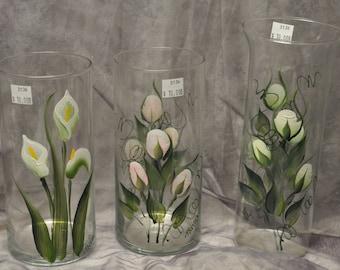 Hand Painted  Cylinder Vase