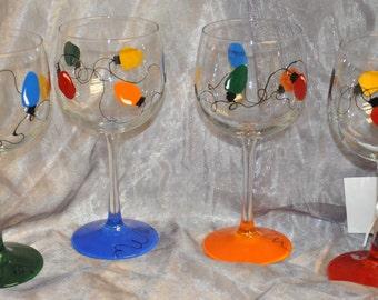 Single, Christmas Bulb wine glass