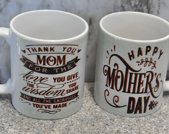 Sublimated Light Green Mother's Day Mug
