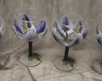 3-Dimension, Iris Wine glasses, set of 4