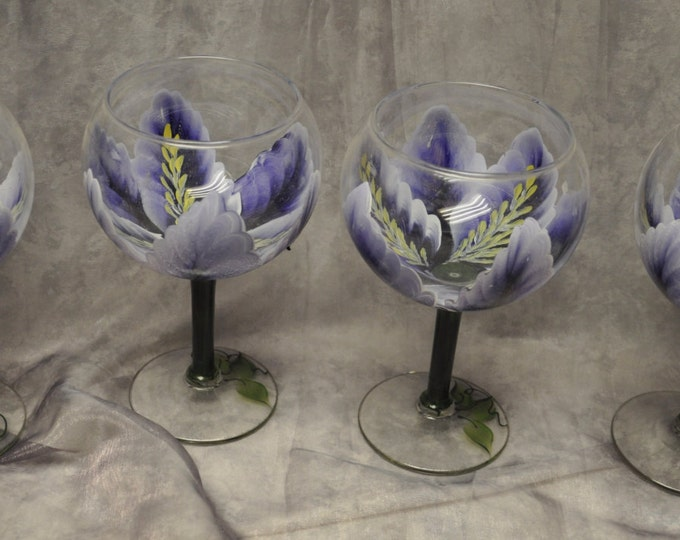 3-Dimension, Iris Wine glasses, set of 4