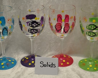 Single, 12.5 oz. Flip flop wine glass