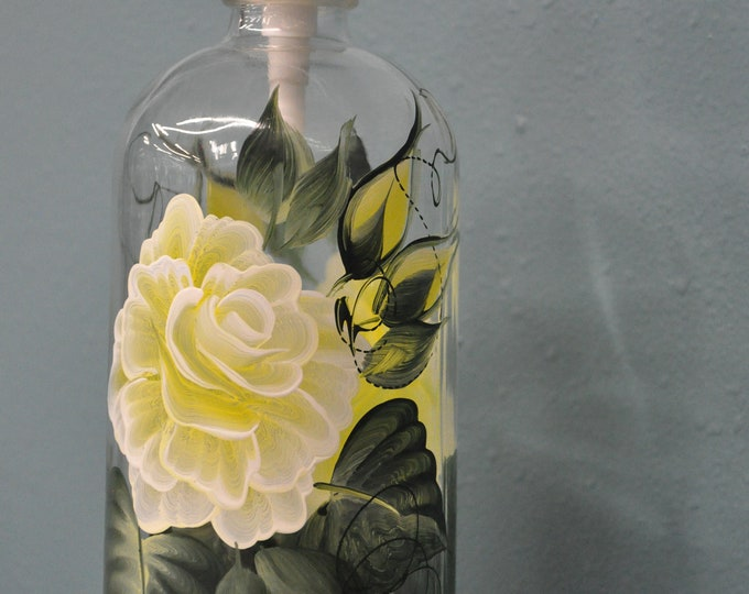 Hand Painted, 16 oz. Soap/Lotion pump dispensers