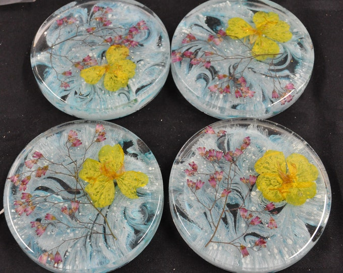 Epoxy resin coaster sets, your choice of design