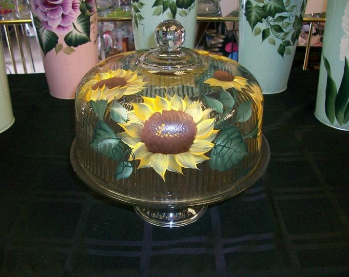 Sunflower Cake Keeper/Punch bowl