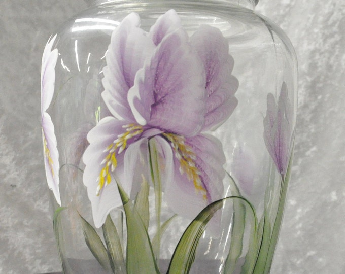 Hand painted, Pot belly canister, Choose your floral