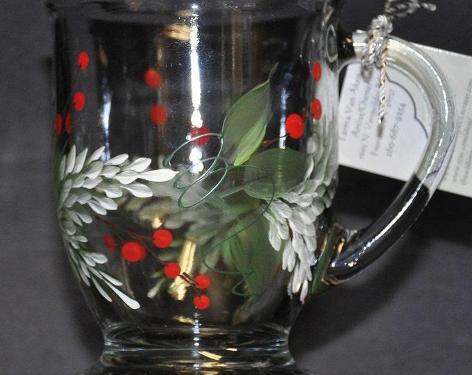 NEW Hand painted Pine & Berries Mug