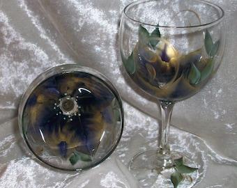 3-Dimension,Poinsettia Wine glass
