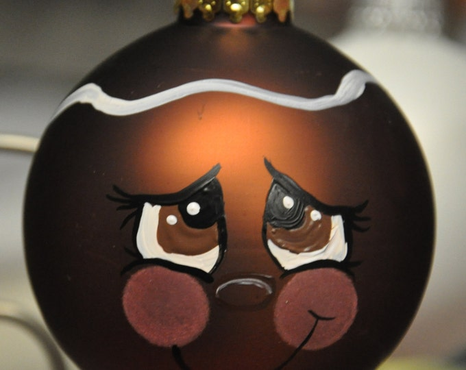 Single,  hand painted gingerbread ornament