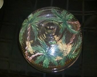 Palm Tree Cake Keeper/Punch bowl