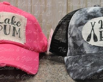 """Ponytail hat, """"Lake Bum"""""""