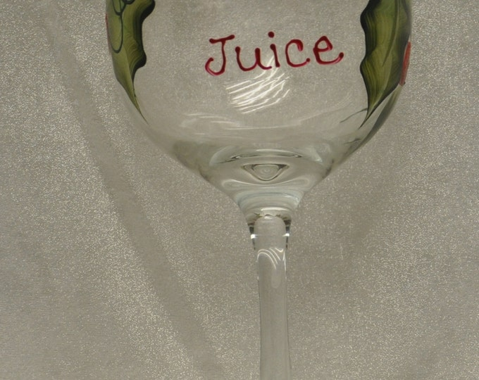 Hand Painted, Jolly Juice, wine glass