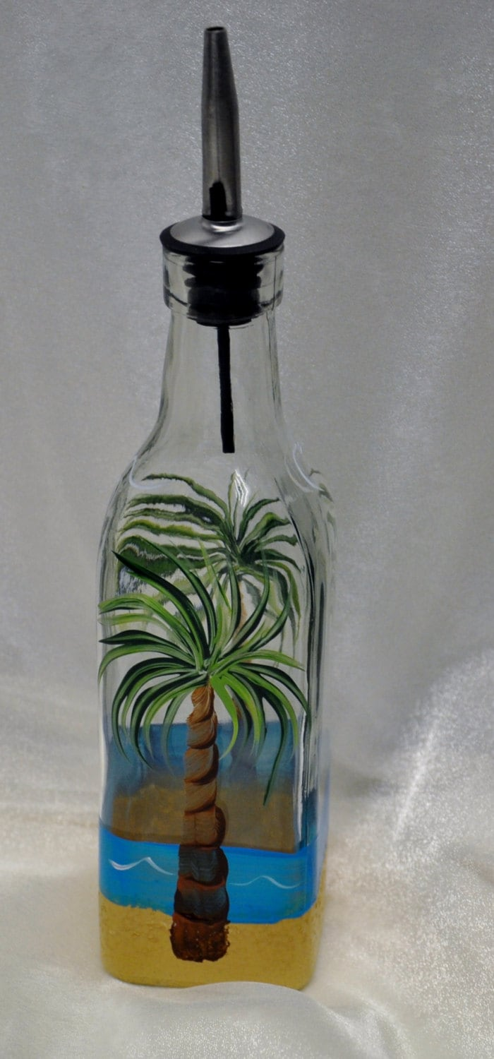 Frosted Glass Oil Bottles