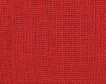 """48"""" Inch Red Burlap - By The Yard"""