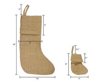 """12 Pack of Burlap Stockings: 10""""W x 16""""H"""