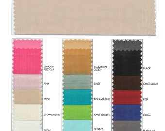 """118"""" Voile Fabric Sold By The Yard - 17 Color Choices"""