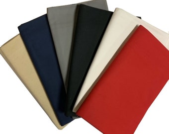 """Duck Cloth Canvas 10 oz Variety 6 Pk 60"""" Wide x 2 Yards Each Color - 100% Cotton"""