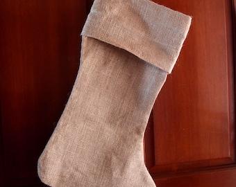 """Burlap Stocking 10"""" x 24"""" (1 stocking)"""