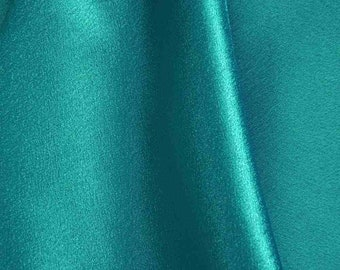 58/60 Wide Teal Crepe Back Satin Fabric by the yard