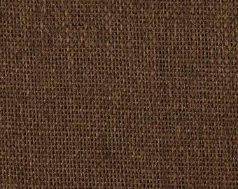 "48"" Inch Dark Brown Burlap - By The Yard"