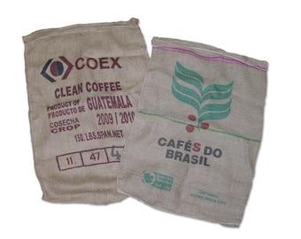 "10 Burlap Used Coffee Bags 28"" x 40"""