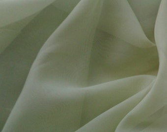 """Sage Voile Fabric 118"""" Wide By The Yard 100% Polyester"""