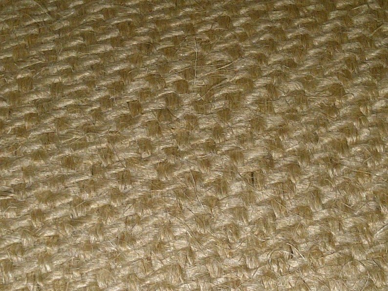"""14/"""" Burlap Roll Sewn with Frayed Edges 50 Yards"""
