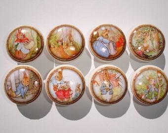 Peter Rabbit Dresser Drawer Knobs--Set of 8