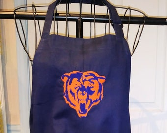 Chicago bears apron | Etsy