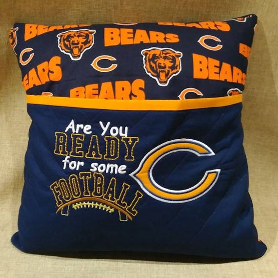 Christmas Gift Chicago Bears Reading Pillow Remote Holder | Etsy
