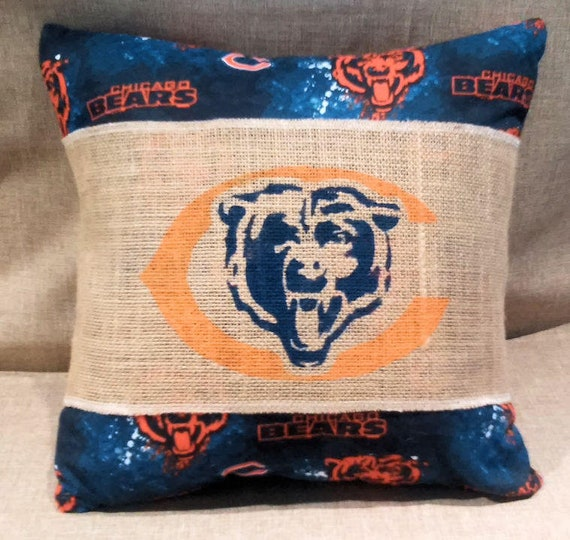 Christmas Gift Chicago Bears Decorative Zippered Pillow | Etsy