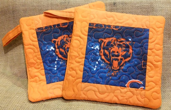 Christmas gift Chicago Bears Handmade Kitchen Pothoder | Etsy