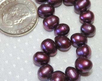 Freshwater Pearls - Dark Purple