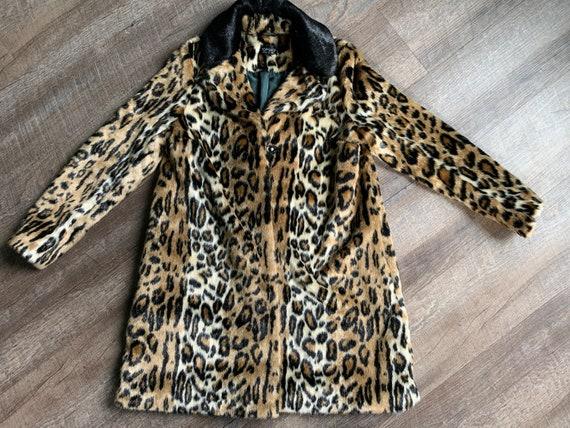 Top Shop Leopard Print Coat Size 6 - Animal Print