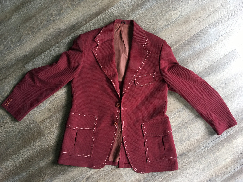 1960s – 70s Men's Ties | Skinny Ties, Slim Ties Mens Vintage Blazer Jacket Polyester Disco Suit Coat 70S 60S Retro Fashion Costume 1960S Poly Maroon Burgundy Party $0.00 AT vintagedancer.com