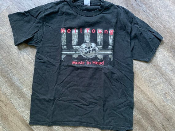Neil Young Music in Head 2000 Tour T-Shirt