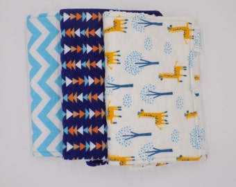 Giraffe Neutral Burp Cloth Bundle