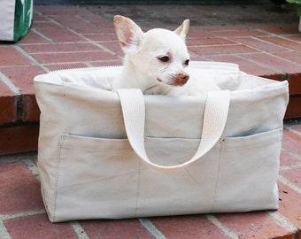 Warm Grey Streamline City Dog Tote With Pockets