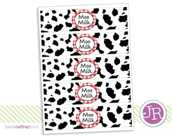 "Farm ""Moo Milk"" Labels"